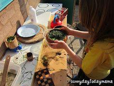 sunnydaytodaymama: Sunnyboy's new outdoor play kitchen