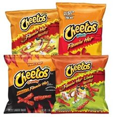 Cheetos Flamin Hot and Spicy Variety Pack - Bag Of Cheetos, Gourmet Recipes, Snack Recipes, Snacks Online, Mini Rolls, Best Chips, Junk Food Snacks, Cheese Snacks, World Recipes
