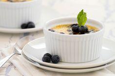An Easy, Impressive Dessert: Creme Brulee: Creme brulee with fresh blueberries.