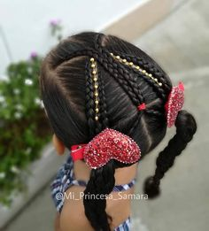 Easy Little Girl Hairstyles, Cute Hairstyles, Little Girls, Hair Beauty, Belleza Natural, Hair Styles, Kid Hairstyles, Plaits Hairstyles, Hair