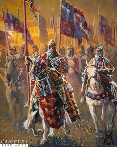 The Black Prince Before the Battle of Crecy by Mark Churms. (AP) - cranstonfinearts.co.uk