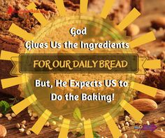 Good Sunday Morning!... The Unofficial Daily Bread for the Day is INCREASE!.... How can Your Actions Today, show that You Believe God's Message on INCREASE!...Take a Look at 1 Cor. 3:6 from a different perspective.  When we Have the Passion to Create a Business, Reach a Goal or Attain a Dream; It is as though the Holy Spirit has Deposited that Vision into our Heart and thus we feel a desire to live out that dream.  However, Our Actions show that We BELIEVE the Vision when WE carry out the…