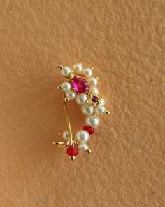 Nath Nose Ring, Nose Ring Stud, Gold Nose Rings, Nose Jewelry, Hand Jewelry, Bridal Jewelry, Nath Bridal, Bridal Henna, Nose Ring Designs
