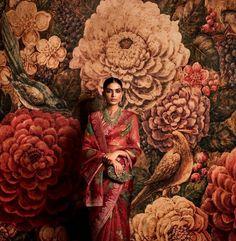 Sabyasachi collection 2016 for brides and grooms- red Sabyasachi Sari