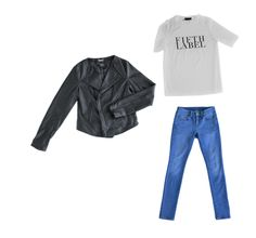 Collectabl Capsule Wardrobes   Leather Jacket   Graphic Tee   Jeans