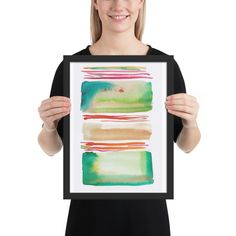 Lines & Color Block Series October 2018 Watercolor Sunset, Watercolor Art Paintings, Butterfly Watercolor, Watercolor Trees, Watercolor Artists, Watercolor Pattern, Abstract Watercolor, Abstract Canvas, Watercolor Dreamcatcher