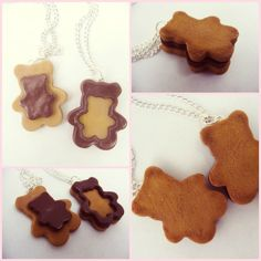 Two Bear cookie friendship necklaces