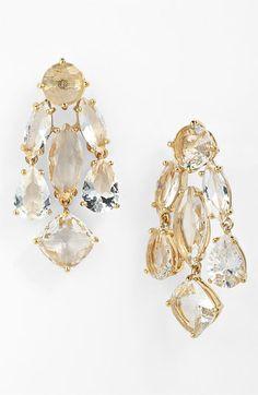 Kate Spade New York Statement chandelier earrings. $98.00. #earrings #women #fashion