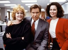 Still of Harrison Ford, Sigourney Weaver and Melanie Griffith in Working Girl (1988)