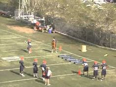 Running Back Drills with bags