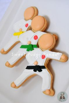 Karate cookies from Sweet Pudgy Panda