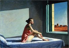 Edward Hopper - I love the ominous atmosphere of the work and the use of horizontals and verticals - angles.