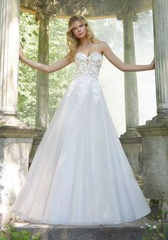 Wedding Dresses Ball Gown with Bling Luxury Mori Lee Bridal Wedding Dresses by Madeline Gardner Wedding Dresses Photos, Bridal Wedding Dresses, Wedding Dress Styles, Lace Wedding, Formal Wedding, Garden Wedding, Bridesmaid Dresses, Prom Dresses, Mori Lee Bridal
