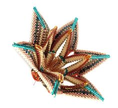 ZigWing from Contemporary Geometric Beadwork, designed by Kate McKinnon and beaded by Angela Wallis of Beadjangles.
