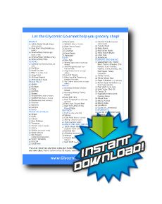 Shopping List of 101 Low Glycemic Index Foods - Free Download