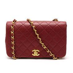 Chanel Matelasse Single Chain Shoulder Bag in White Red