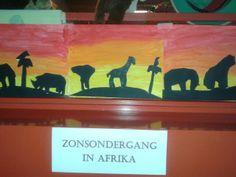 Zonsondergang afrika