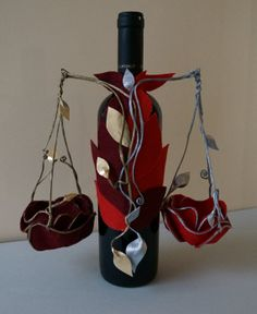 "Zodiac Sign Wine Bottle Cover - ""Scales"""