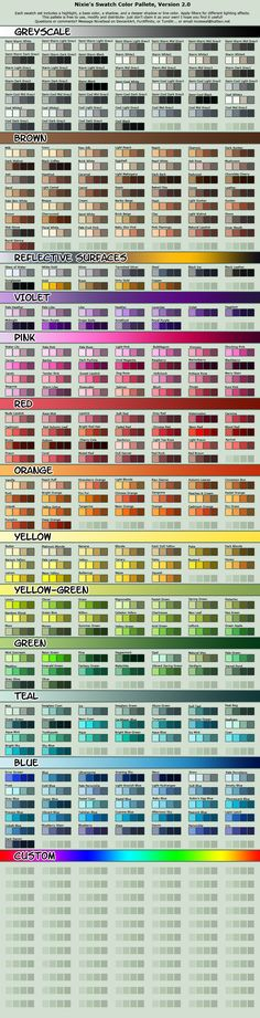 Vibrant Cell-shading Swatch Pallete by NixieSeal.deviantart.com on @deviantART