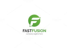 Fast Fusion Logo by XpertgraphicD on @creativemarket