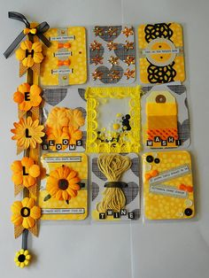Pocket Letter - Yellow | by peachesandpinklemonade Paper Pocket, Pocket Cards, Book Crafts, Arts And Crafts, Paper Crafts, Pocket Scrapbooking, Scrapbook Paper, Snail Mail Pen Pals, Diy Crafts For Girls