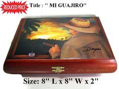 "Humidor Cigar box ""Robusto"" with beautiful Art woks  . Buy 1 Get Second 30% Off. Free Shipping"