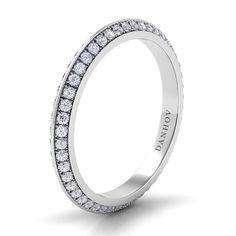 "Brides.com: . Style CB116-A, ""Classico"" knife-edge diamond band, $5,020, Danhov  See more Danhov rings."