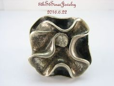 R1809 Retired Silpada Sterling Silver Flower in Bloom Modernist ring Size 10 #Silpada #Band