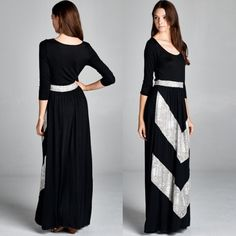 Chevron Maxi Dress (em25) How to BUY, comment below with size and color. We'll create a separate listing for you to purchase. Thank you  Product Description: Maxi Dresses - 95%Rayon 5% Spandex / 96% Poly 4% Spandex Made in USA  Fit: S (4-6) M (8-10) L (12-14)  Shipping: Ships within 4-7 business days.  Terms: Final sale. 10% off bundles. No trades. No holds. We offer our lowest and best prices upfront. Just Modest Dresses Maxi