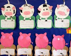 Cow and Pig Craft (Great for teaching a farm unit...and super cute!)