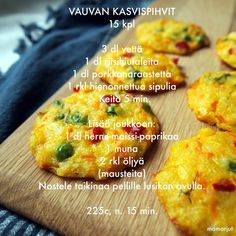 Vauvan kasvispihvit Toddler Meals, Kids Meals, Baby Finger Foods, Baby Foods, Baby Food Recipes, Healthy Recipes, Baby Led Weaning, Kids And Parenting, Baked Potato