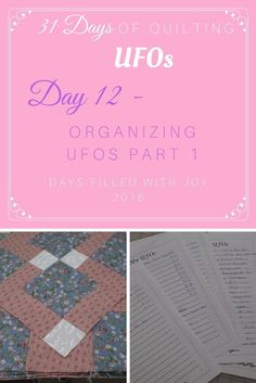 Organizing UFOs Part 1