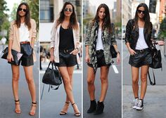 Women Leather Shorts Styles for 2017 Summer