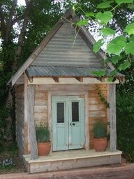 Amazing Rustic Cubby House Hand Made Using Authentic Old Telegraph Poles, French Doors,sashwindow