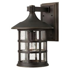 Freeport Oil Rubbed Bronze One Light Large Outdoor Wall Light Hinkley Wall Mounted Outdo
