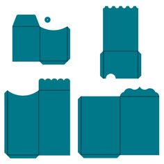 "AccuCut CM517 Album Envelopes - 3 1/2""w x 4 1/2""h, 4 1/2""w x 5 3/4""h, 4""w x 8 5/16""h, 5""w x 7 1/2""h  (Folded dimensions are provided.)"
