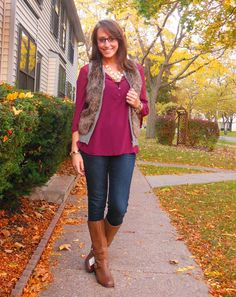 How to wear my fur vest...Simply Sarah; Fall Look