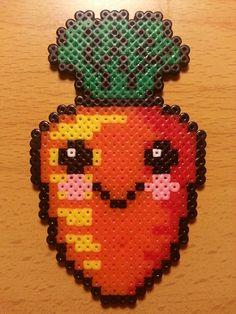Kawaii carrot hama perler beads by Factory Beads