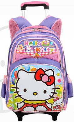 Free shipping new style school bag wheeled backpack trolley luggage kid bag detachable rod backpack mochila
