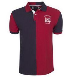 7f328c6b4d7 cheap ralph lauren online Hackett London Half Split Polo Team Shirt Black  Red http
