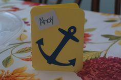Anchor Card Ahoy Card by MomsCrazyCraftroom on Etsy