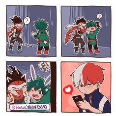 Read Mini comic from the story Tododeku pictures by PeppitoIsCute with reads. My Hero Academia Shouto, Hero Academia Characters, Villain Deku, The Villain, Biel Biel, Arte Do Kawaii, Comic Face, Hero Wallpaper, Fanarts Anime