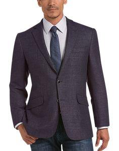Joseph Abboud Plum Tic Modern Fit Sport Coat - Men's Sport Coats | Men's Wearhouse Mens Sport Coat, Sport Coats, Joseph Abboud, Suit Separates, Big & Tall, Plum, Suit Jacket, Suits, Fitness