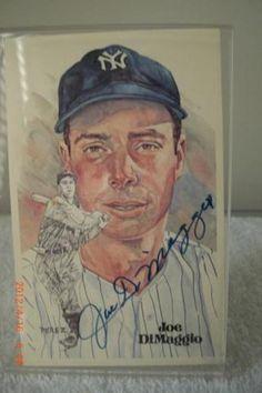 Joe Dimaggio Autographed Perez Steele Postcard | crazycollectors.com