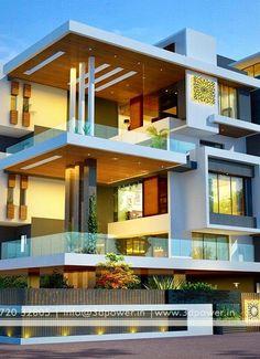New house facade design green life ideas Architecture Building Design, Facade Design, Exterior Design, Modern Architecture, Bungalow House Design, House Front Design, Modern House Design, Brown Wall Decor, House Elevation