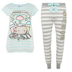 Primark Ladies PUSHEEN THE CAT Pyjamas Womens Pajamas