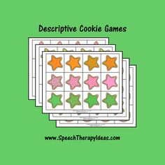 Descriptive Cookie Games Speech Therapy Games, Speech Language Pathology, Therapy Activities, Therapy Ideas, Speech And Language, Cookie Games, Picture Cards, Christmas Themes, Sugar Cookies