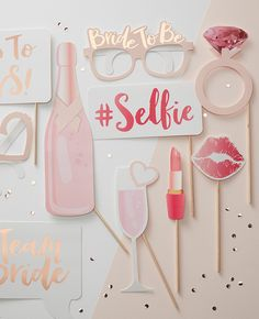 These hen do photo props would be perfect for a classy hen party!