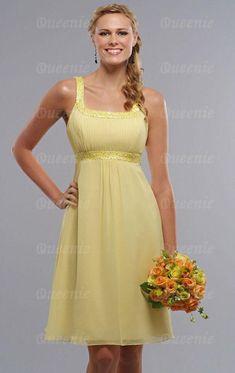 UK Yellow Bridesmaid Dress BNNAD1128-Bridesmaid UK