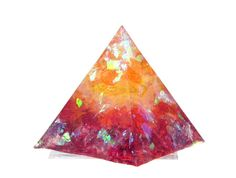 Chakra Healing Resin Pyramid use as paperweight for by LBidler